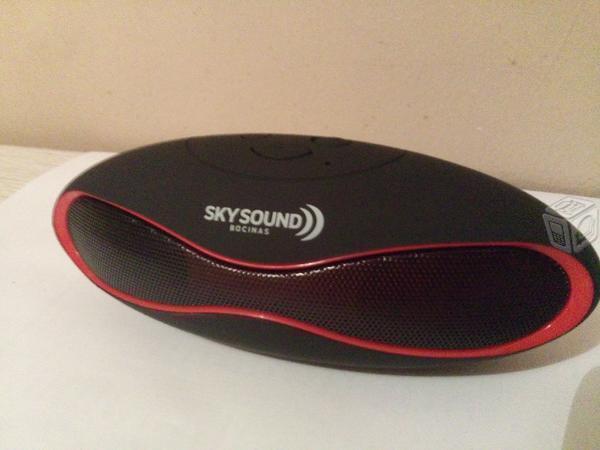 Bocina Bluetooth Diseño Ovalado Recargable Nuevas