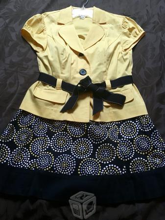 Vestido falda y saco