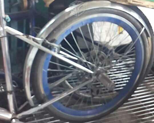 bici cromada rin 26 ganala