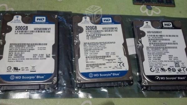 Disco Duro de 160, gb, 500 gb 750 gb
