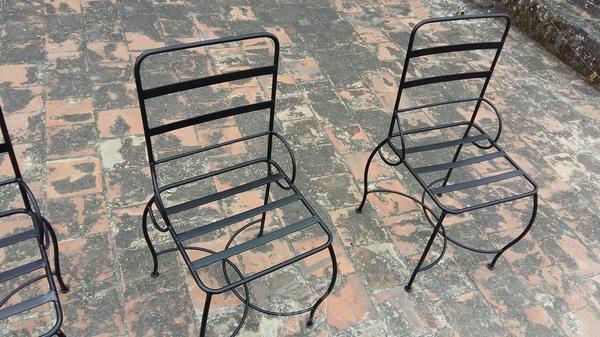 Herreria sillas brick7 venta for Sillas para jardin de herreria