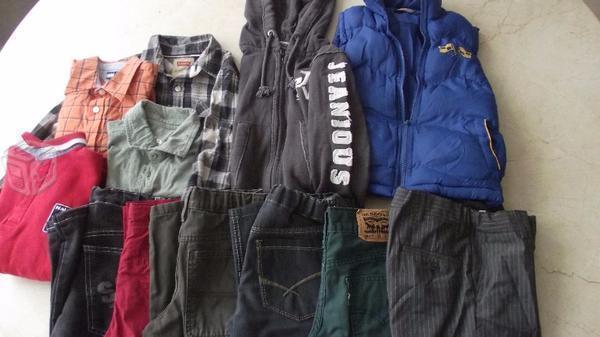 Excelente lote de ropa para niño talla 6-8