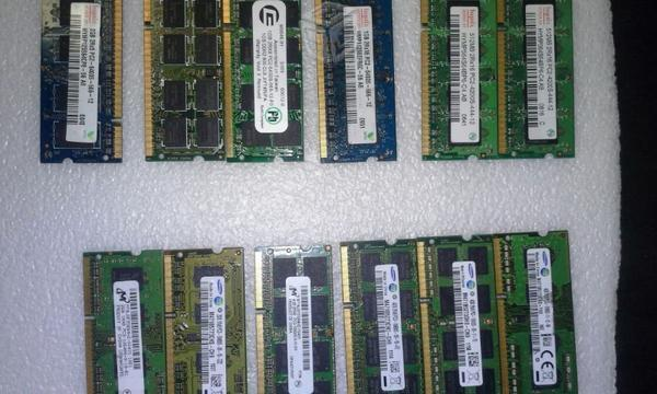 2 memorias laptop 4gb