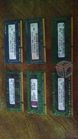 RAM DDR2 Y DDR3 Laptop 1gb