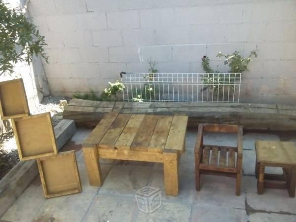Muebles rusticos para jardin