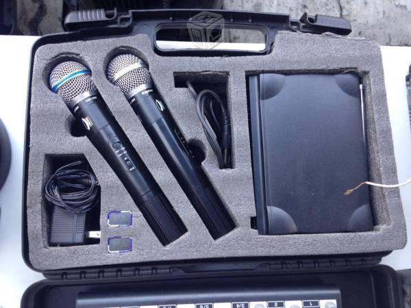 Sistema de micrófonos inalámbricos vhf kmi-200