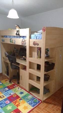 Cama litera escritorio brick7 venta - Cama con escritorio abajo ...