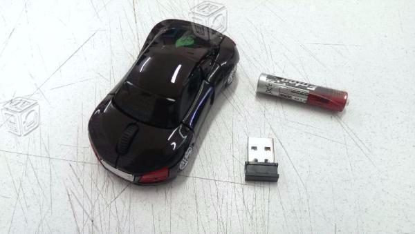 Mouse Inalambrico Usb Carro Audi Iluminado 10m 2.4