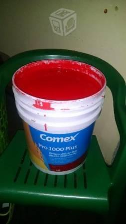 Pintura comex pro 1000 rojo