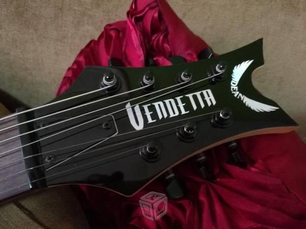 Guitarra 7 cuerdas dean vendeta vino