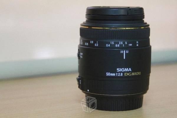 Lente / objetivo Sigma MACRO 50mmF2.8 EX DG