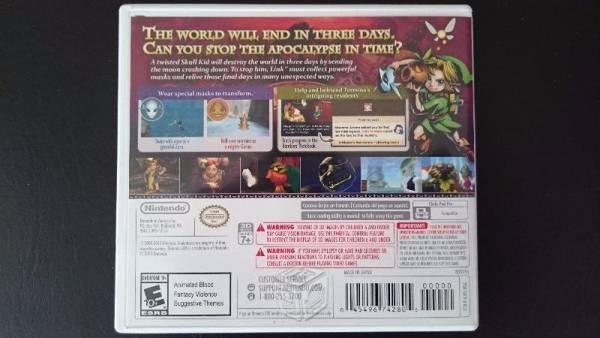 Zelda Majoras Mask Nintendo 3DS XL