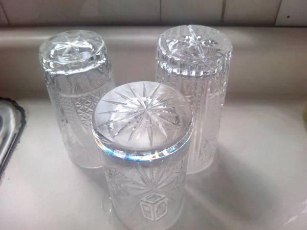 26 Vasos Finos de Cristal Cortado Kristaluxus