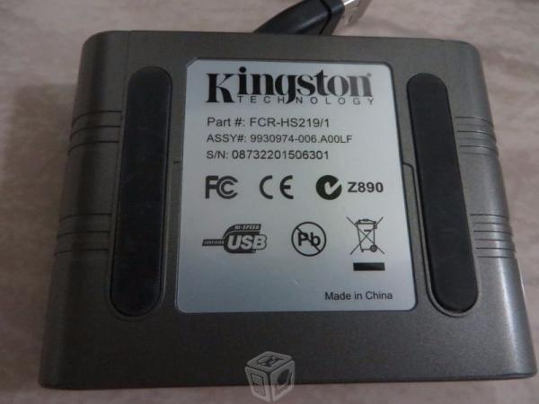 Lector de tarjeta de memoria kingston 19 en 1