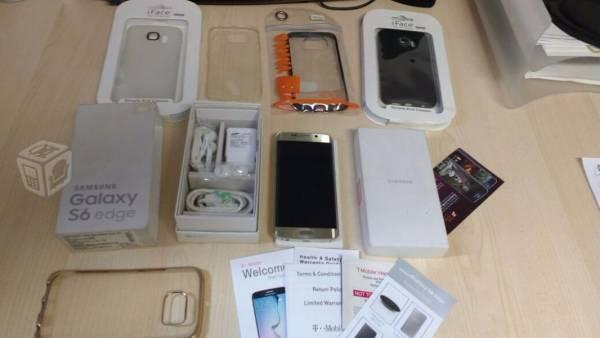 Galaxy S6 Edge Oro LIBRE caja y accesorios