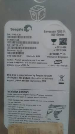 Disco duro 500 gb sata